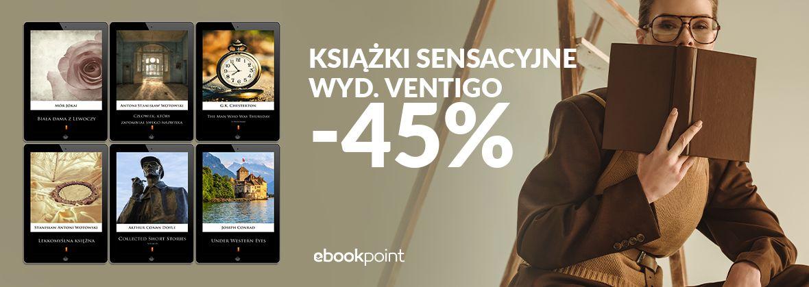 Promocja na ebooki Sensacje VENTIGO [-45%]