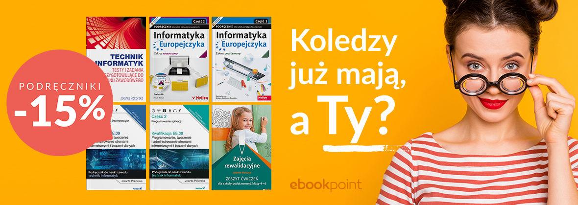 Promocja na ebooki Koledzy już mają, a Ty? -> Podręczniki -15%