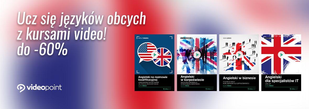 Promocja na ebooki Ucz się języków obcych z kursami video! [od -50% do -60%]