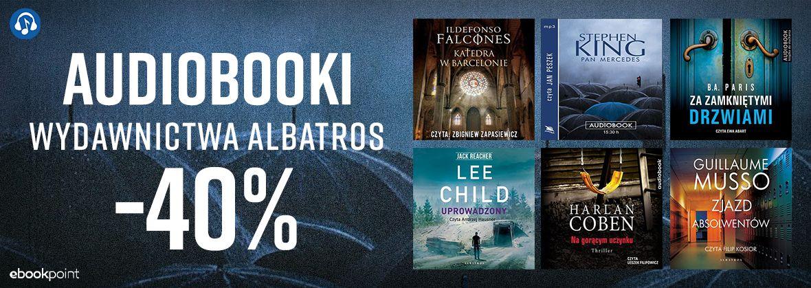 Promocja na ebooki Audiobooki Wydawnictwa ALBATROS / -40%