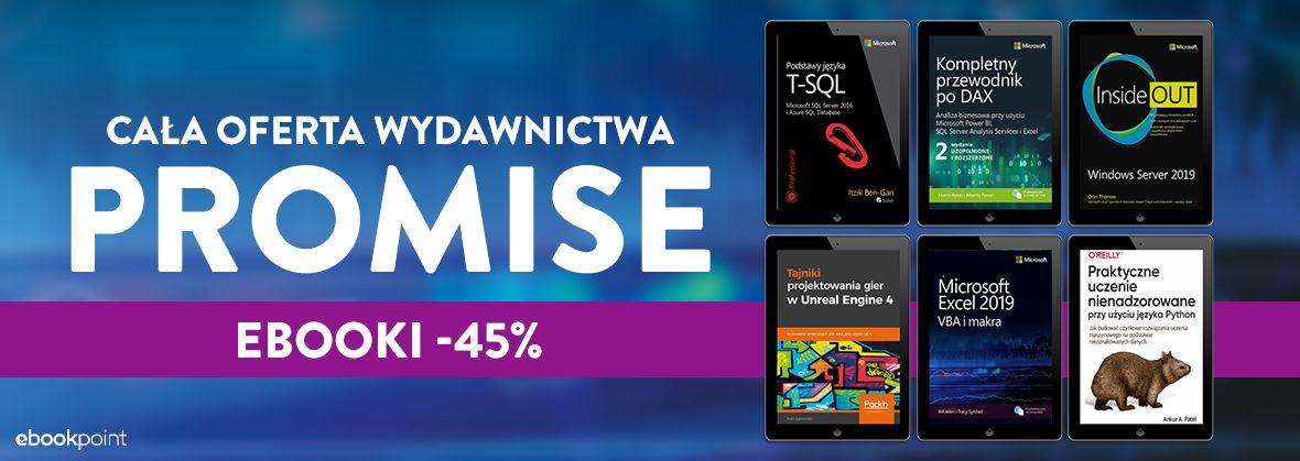Promocja na ebooki Cała oferta Wydawnictwa PROMISE / -45%