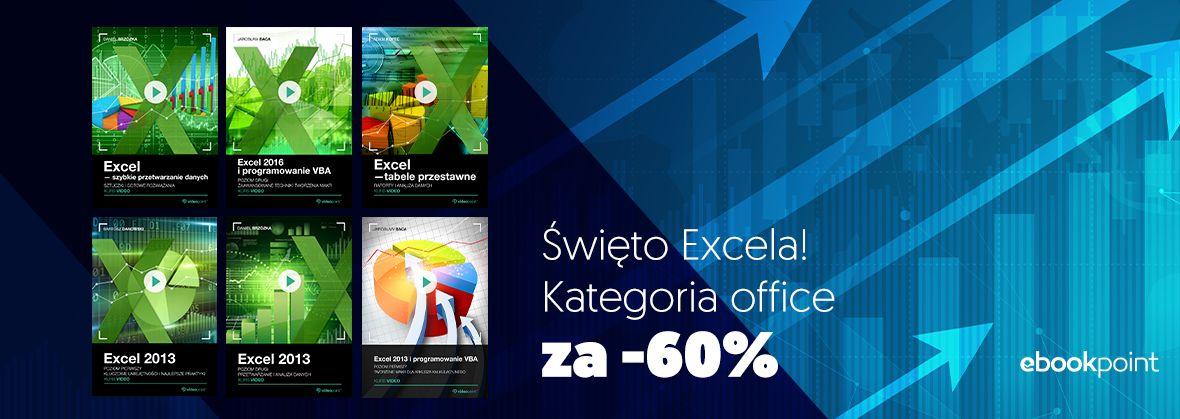 Promocja na ebooki Święto Excela! Kursy z kategorii office za -60%