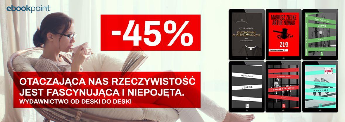 Promocja na ebooki Wydawnictwo OD DESKI DO DESKI / -45%
