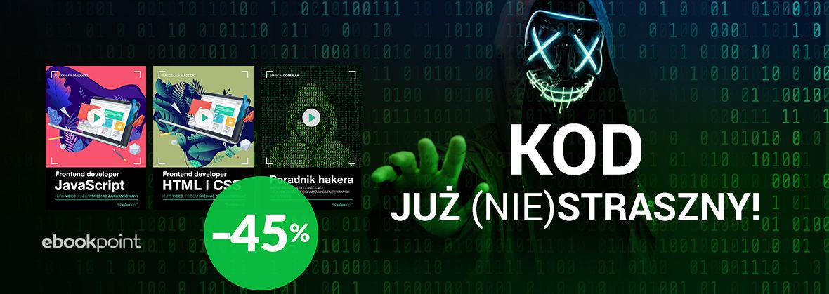 Promocja na ebooki Kod już (nie)straszny! [-45%]