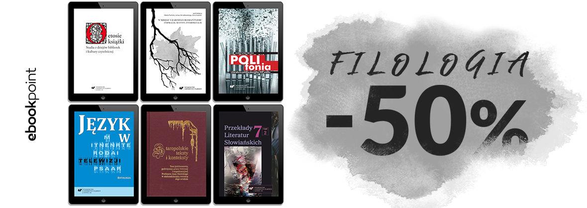 Promocja na ebooki FILOLOGIA / -50%