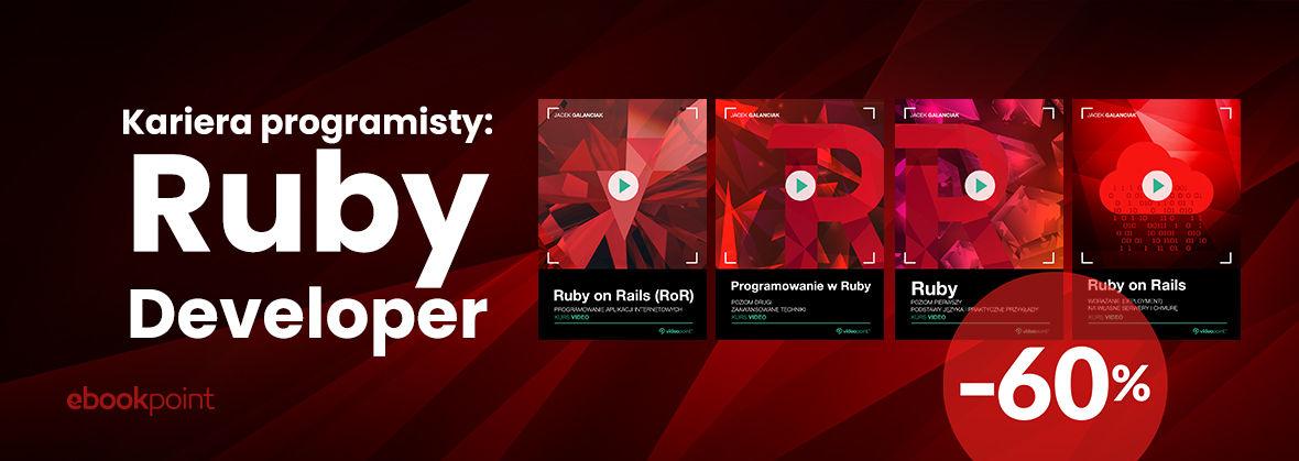 Promocja na ebooki Kariera programisty: Ruby Developer