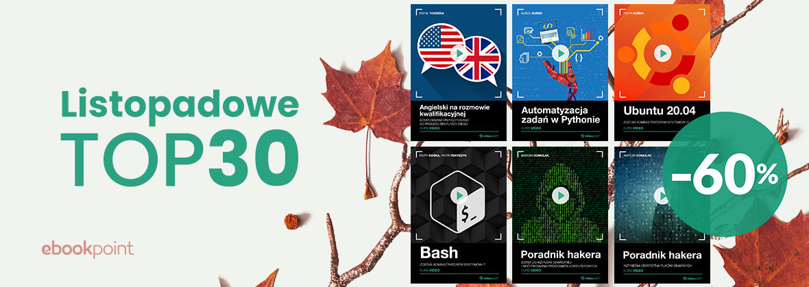 Promocja na ebooki Listopadowe TOP 30! [-60%]