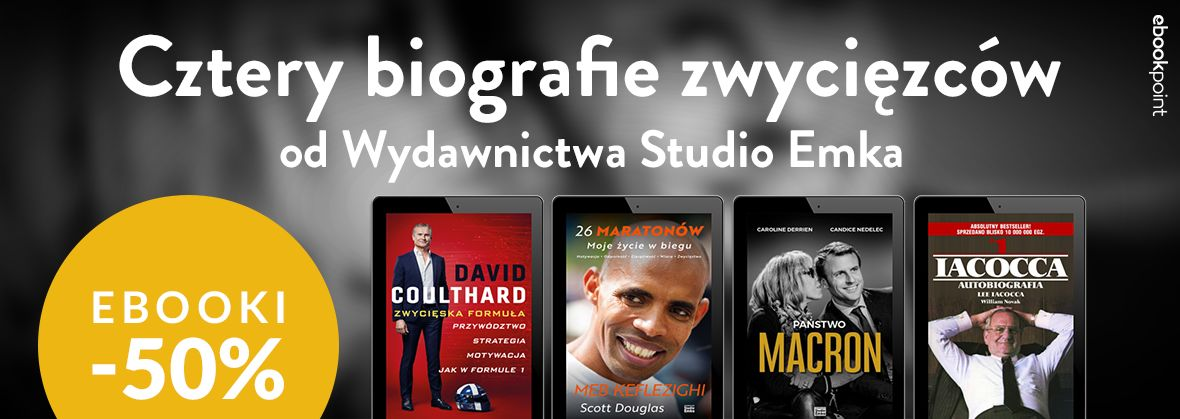 Promocja na ebooki Cztery biografie zwycięzców. / Studio Emka / -50%