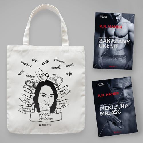 Pakiet książek Katarzyny Haner z torbą lnianą