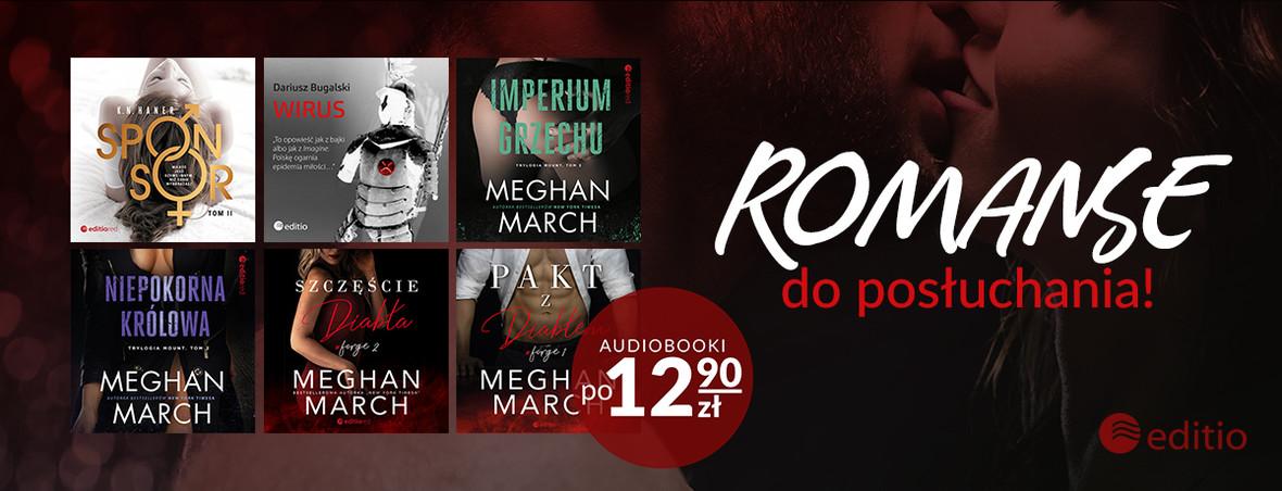 Najlepsze romanse do posłuchania ~ Audiobooki po 12.90 zł!