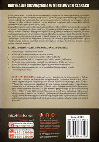 Tył okładki książki/ebooka Radykalna rewolucja w zarządzaniu. Przewodnik menedżera