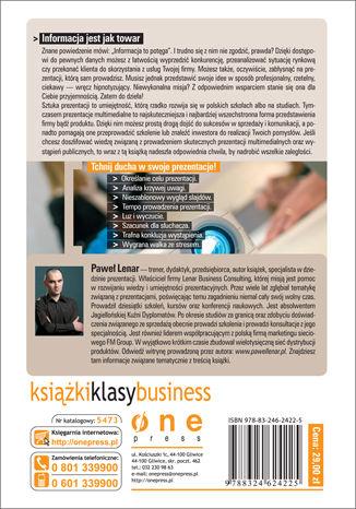 Tył okładki książki/ebooka Profesjonalna prezentacja multimedialna. Jak uniknąć 27 najczęściej popełnianych błędów