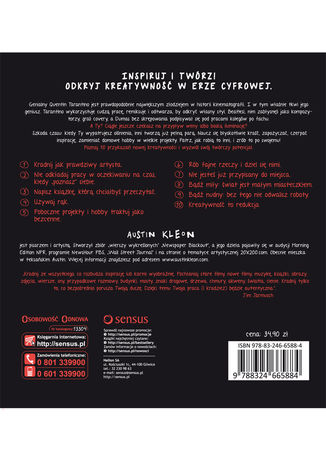 Tył okładki książki/ebooka Twórcza kradzież. 10 przykazań kreatywności