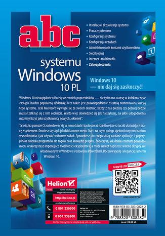 Tył okładki książki ABC systemu Windows 10 PL