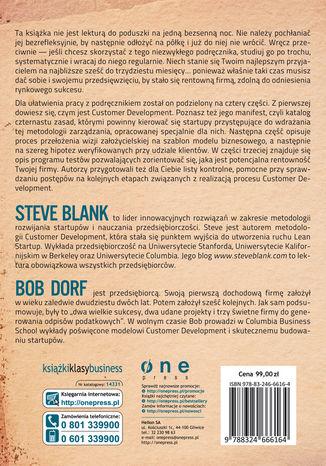 Tył okładki książki Podręcznik startupu. Budowa wielkiej firmy krok po kroku