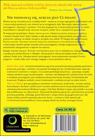 Tył okładki książki/ebooka Tajniki sukcesu. Wyzwól wewnętrzną siłę i żyj w dobrobycie