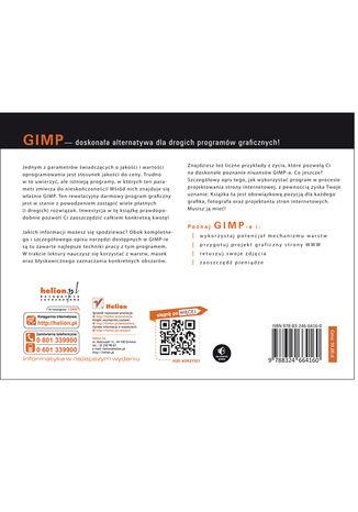 Tył okładki książki/ebooka GIMP. Kreatywne techniki dla fotografów i grafików
