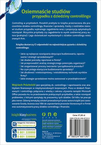 Tył okładki książki/ebooka Controlling w przykładach. Poradnik praktyka