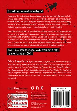 Tył okładki książki/ebooka 10 przykazań propagandy