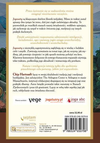 Tył okładki książki/ebooka Jogasutry Patańdźalego. Techniki medytacji i metafizyczne aspekty jogi