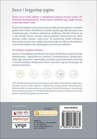 Tył okładki książki/ebooka W sercu jogi. Ćwiczenia dla ciała i ducha