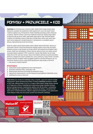 Tył okładki książki/ebooka Baw się kodem! Twoja własna strona WWW. CoderDojo Nano