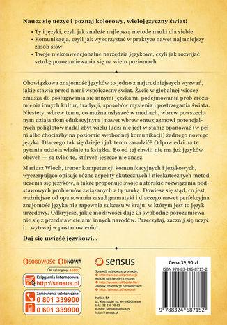 Tył okładki książki/ebooka Władca Języków, czyli prawie wszystko o tym, jak zostać poliglotą