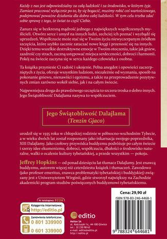 Tył okładki książki/ebooka O współczuciu. Jak osiągnąć spokój wewnętrzny i zbudować lepszy świat