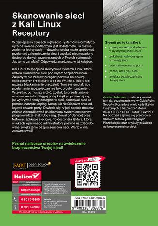 Tył okładki książki/ebooka Skanowanie sieci z Kali Linux. Receptury
