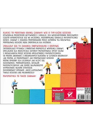 Tył okładki książki/ebooka 101 zabaw z klockami. Nauka matematyki poprzez zabawę. Podręcznik dla rodziców i nauczycieli