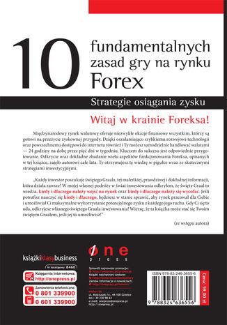 Tył okładki książki/ebooka 10 fundamentalnych zasad gry na rynku Forex. Strategie osiągania zysku