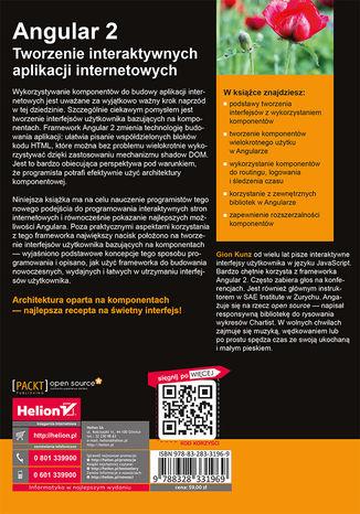 Tył okładki książki Angular 2. Tworzenie interaktywnych aplikacji internetowych