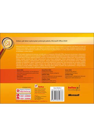Tył okładki książki/ebooka Microsoft Office 2010 PL. Praktyczne podejście