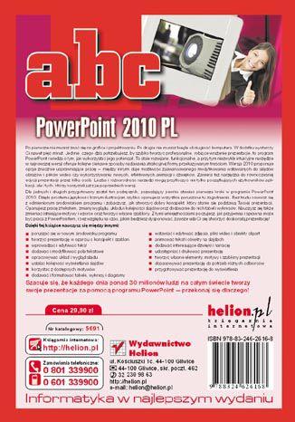 Tył okładki książki/ebooka ABC PowerPoint 2010 PL