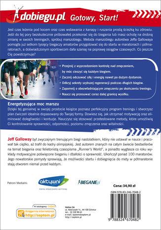 Tył okładki książki/ebooka Półmaraton. Zdrowy trening i doskonałe wyniki metodą Gallowaya
