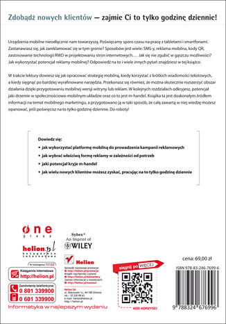 Tył okładki książki/ebooka Godzina dziennie z mobile marketingiem