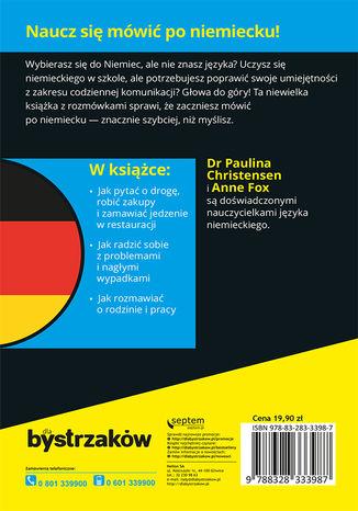 Tył okładki książki/ebooka Rozmówki niemieckie dla bystrzaków
