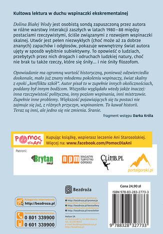 Tył okładki książki/ebooka Dolina Białej Wody. Wydanie II