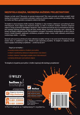 Tył okładki książki/ebooka Podręcznik genialnych pomysłów. Od inspiracji po realizację. Smashing Magazine