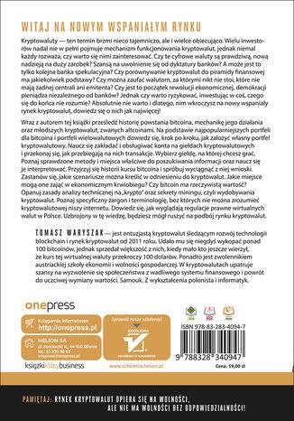 Tył okładki książki/ebooka Jak zarabiać na kryptowalutach