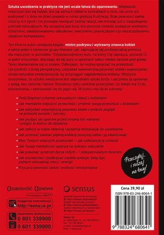 Tył okładki książki/ebooka Sekrety Seksualnej Pewności Siebie. Jak stać się pewnym siebie z kobietami