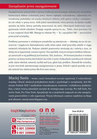 Tył okładki książki/ebooka Budowanie zaangażowania, czyli jak motywować pracowników i rozwijać ich potencjał