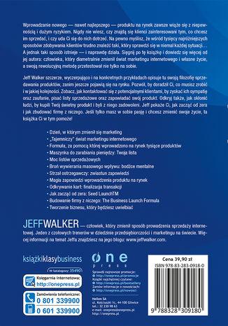 Tył okładki książki Zdobyć rynek. Jak sprzedać prawie wszystko online, stworzyć upragniony biznes i żyć marzeniami