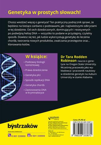 Tył okładki książki/ebooka Genetyka dla bystrzaków. Wydanie II