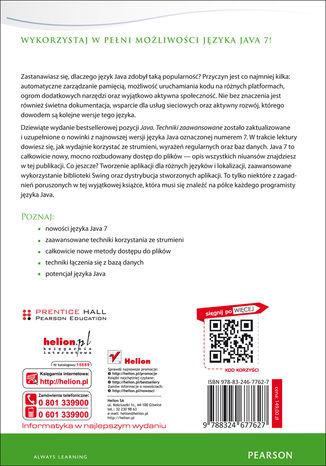 Tył okładki książki Java. Techniki zaawansowane. Wydanie IX