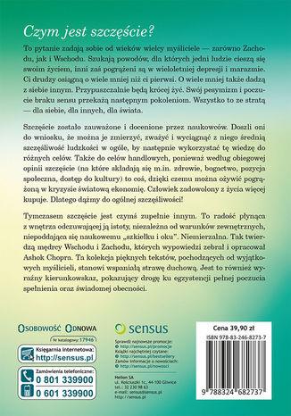 Tył okładki książki/ebooka Lekcje szczęścia i długowieczności. Mistrzowie mądrości o źródłach dobrego życia