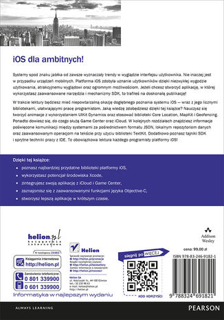 Tył okładki książki/ebooka iOS. Tajniki SDK. Biblioteka przydatnych narzędzi