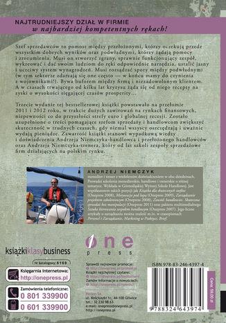 Tył okładki książki Jak zarządzać zespołem handlowym i przetrwać. Poradnik dla szefów sprzedaży i handlowców. Wydanie III