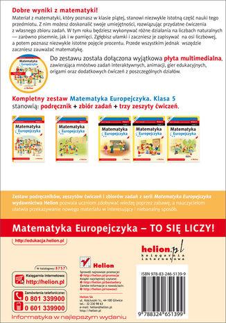 Tył okładki książki/ebooka Matematyka Europejczyka. Zbiór zadań dla szkoły podstawowej. Klasa 5