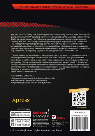 Tył okładki książki/ebooka ASP.NET MVC 3 Framework. Zaawansowane programowanie